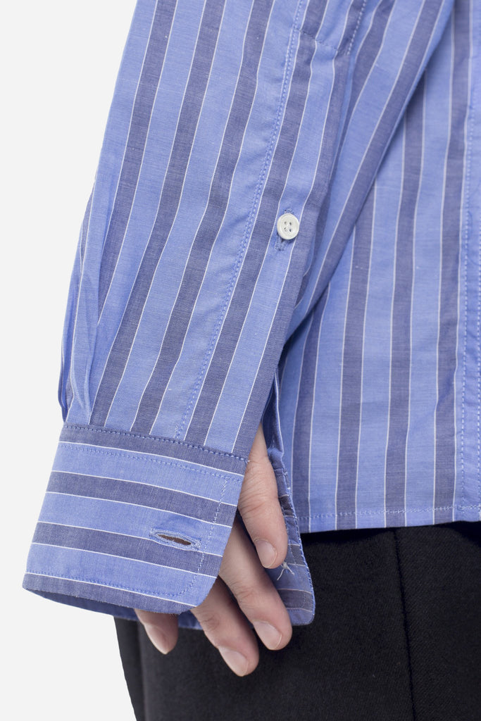 Led Zip Shirt Indigo Stripe