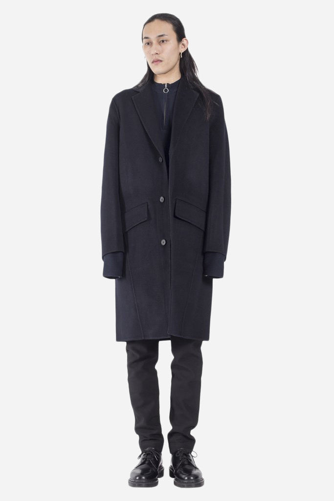 Aiden Double Faced Cashmere Wool Coat Navy