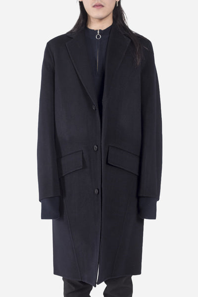 CMMN SWDN - Aiden Double Faced Cashmere Wool Coat Navy