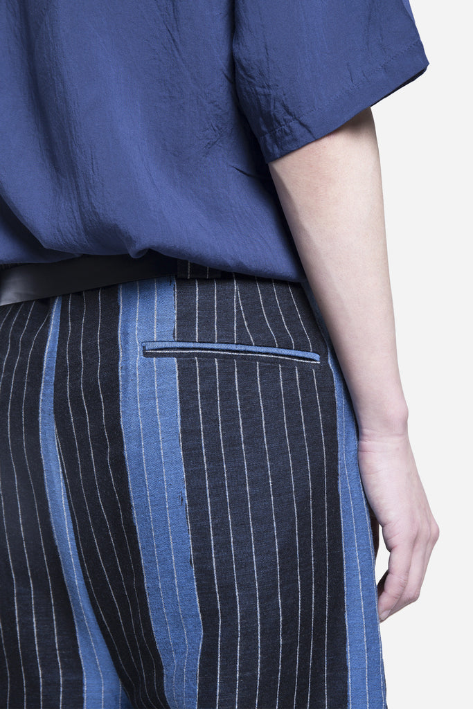 School Wide Leg Trouser Weaved Stripe