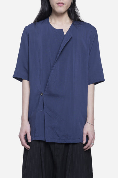 robert geller - The Breezy Pierre Shirt Navy
