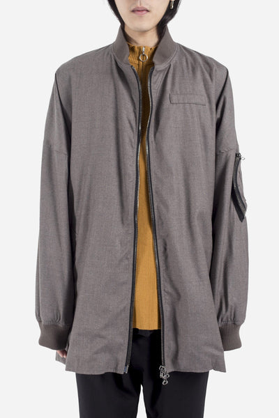 Komakino - Oversized MA-1 Wool Jacket Light Brown