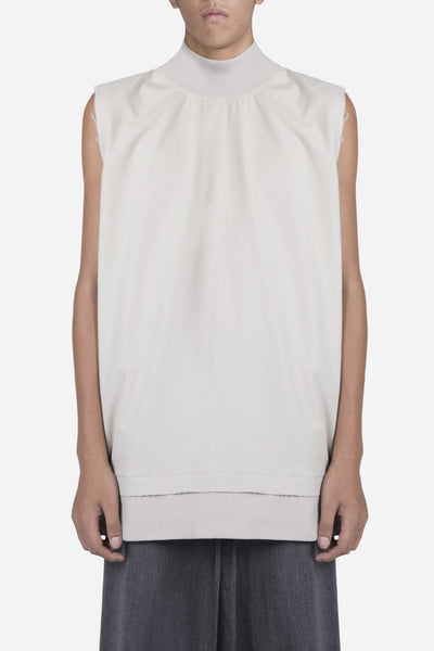 Necessity Sense - Raw Sleeveless Mock Crew Lions Tan