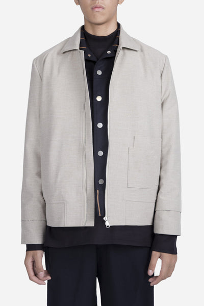 Necessity Sense - Seth Cropped Jacket Moonstone Grey
