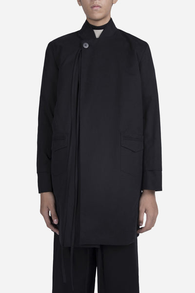 YellNow - Alfred Bomber Coat Dry Onyx