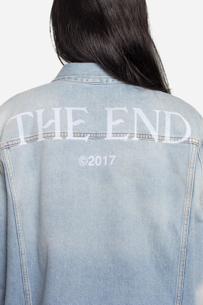 Scorpion Denim Jacket Bleach White