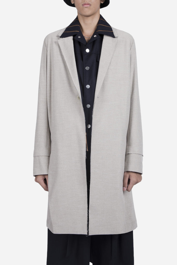 Zen Slit Coat Moonstone Grey