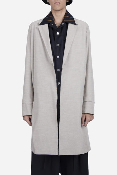 YellNow - Zen Slit Coat Moonstone Grey