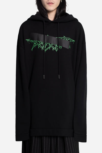 Off-White - Rock Mirror Hoodie Black