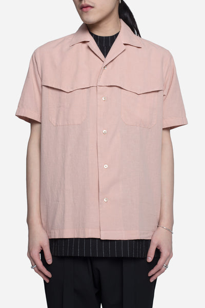 CMMN SWDN - Winston Boxy SS Shirt Dusty Pink