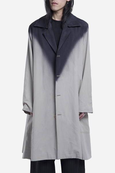 Komakino - Gradient Long Oversized Coat Beige Black
