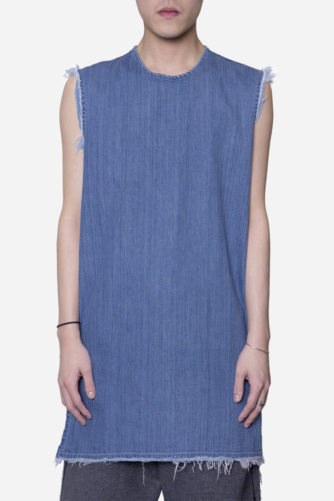 Denim Raw Tank Relaxed Stonewash Indigo