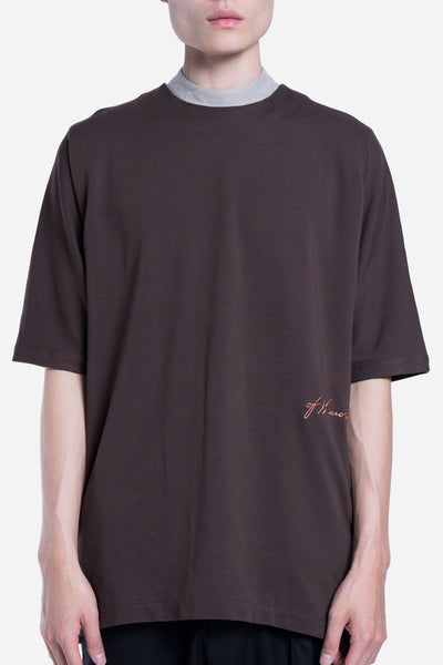 Seven Seconds of Memory - Toussa Oversized Panel Tee Mud Oak