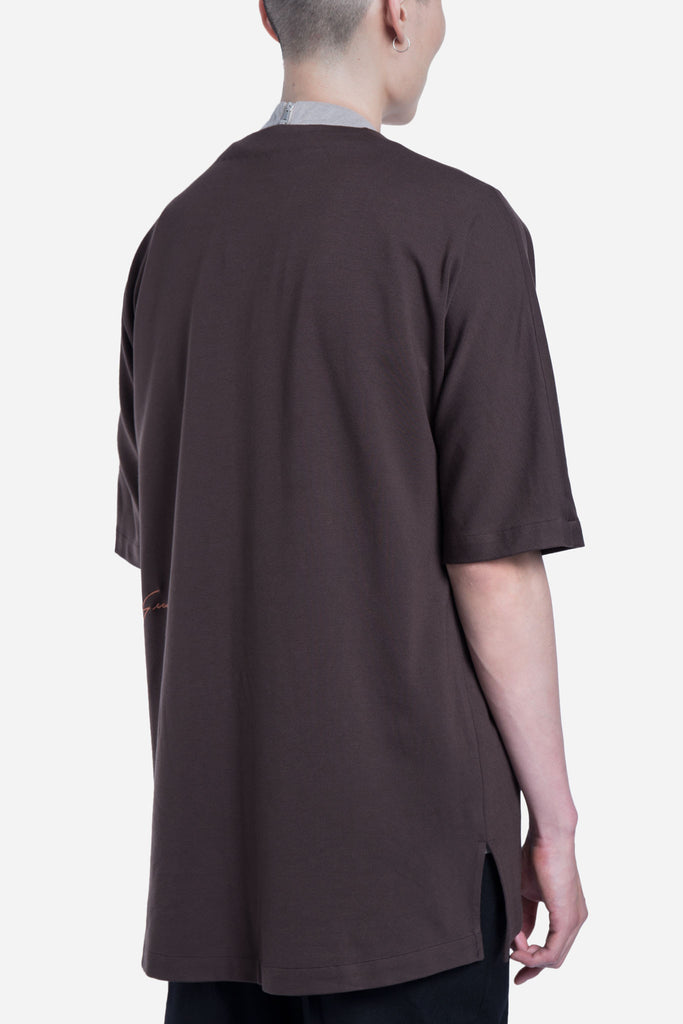 Toussa Oversized Panel Tee Mud Oak