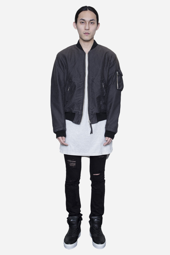 Bomber Jacket Experienced Stain Grey