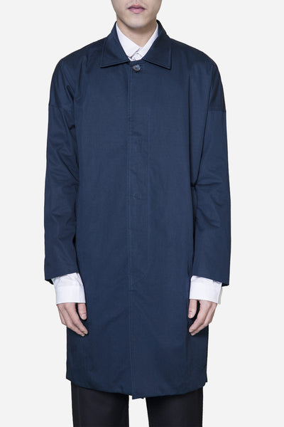 Wilfry - Drop Shoulder Car Coat Deep Navy
