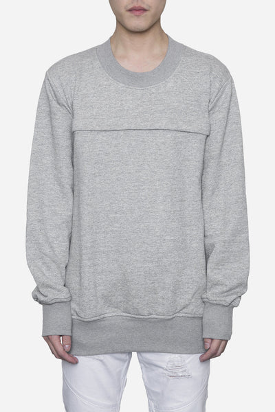 Wilfry - Pouched Crewneck Deep Heather