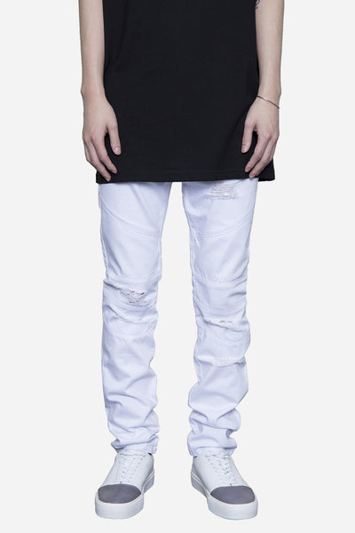 Stampd - Distressed Panel Denim White