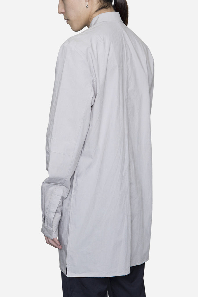 Elongated Button Down Grey