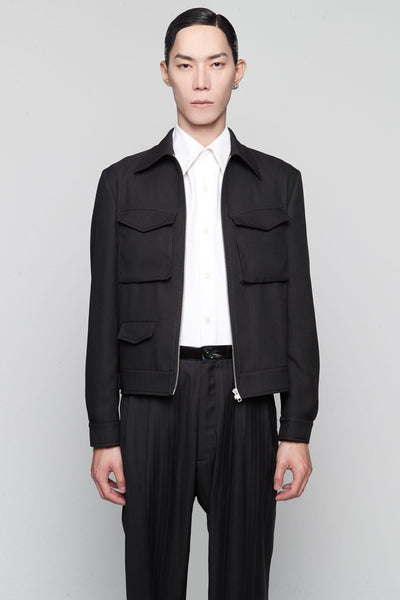 Maison Margiela - Short Sports Jacket Black