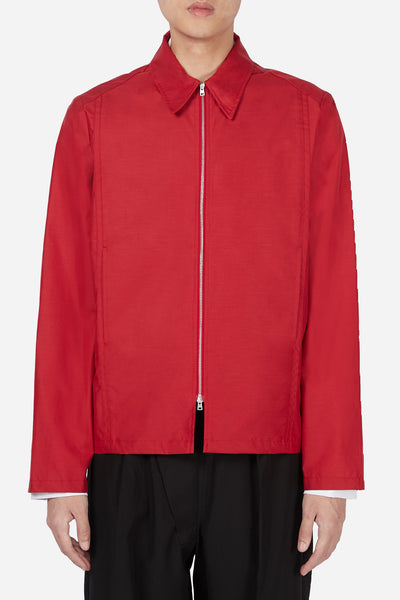 Mackintosh 0002 - Red Suiting Zip Up Jacket