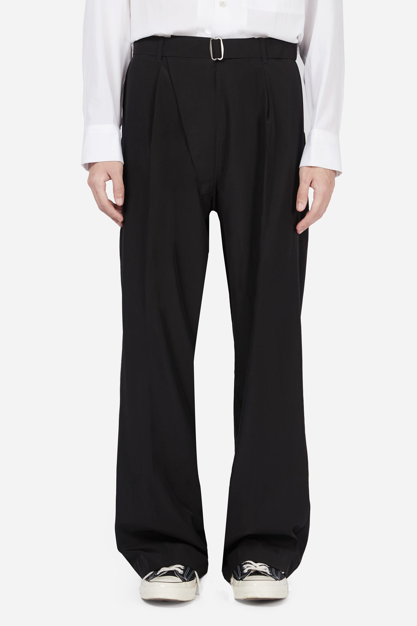 Black Wide Suiting Pants