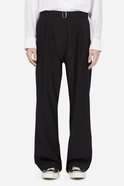 Mackintosh 0002 - Black Wide Suiting Pants