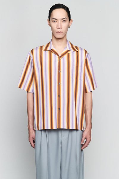 Marni - Degrade Stripe S/S Shirt Lilac/Brown
