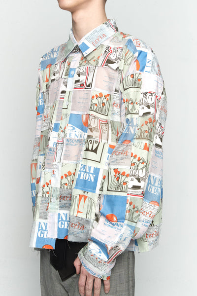 Patchwork Flyer Shirt Shirt-multi