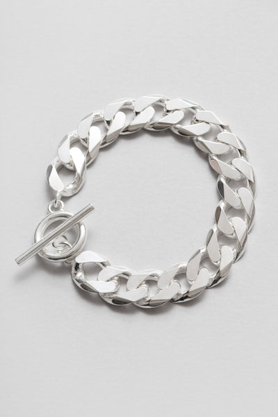 all blues - Moto Bracelet Polished Silver