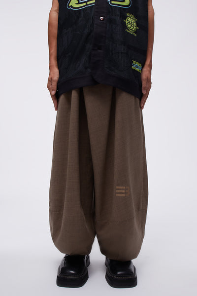 NAMESAKE - Lamar Carrot Wide Trouser Multi Grains