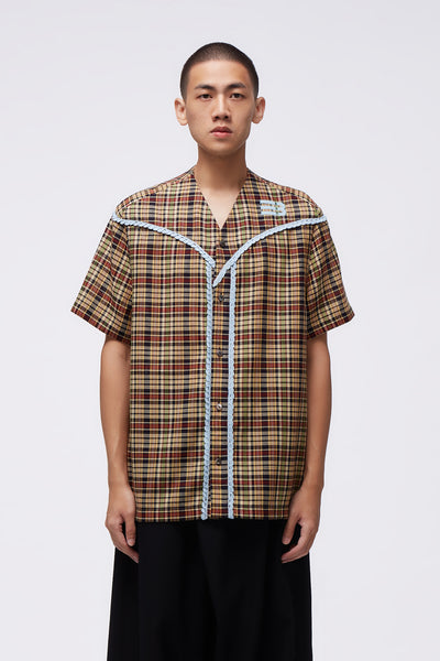 NAMESAKE - Viterbi Baseball Shirt Multi Weaved Flannel
