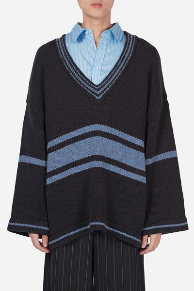Pressured Paradise - Coli Lauren Cardigan Dry Onyx + Lake Blue