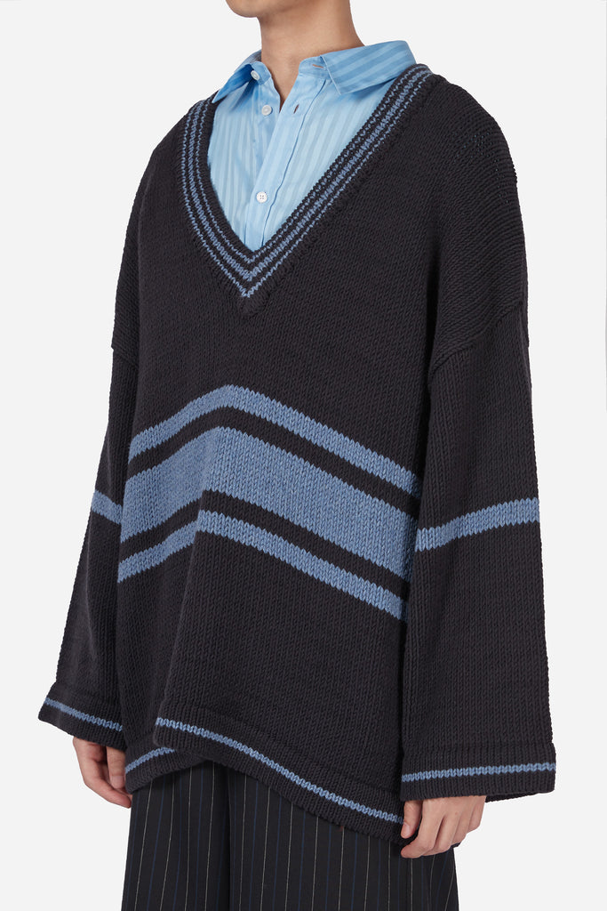 Coli Lauren Cardigan Dry Onyx + Lake Blue