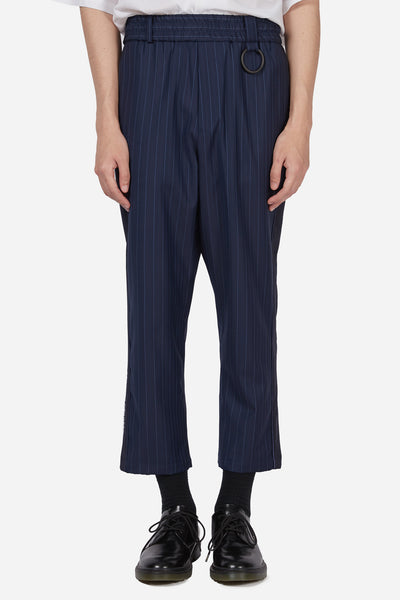 Pressured Paradise - Mich Paradise Cropped Trouser Navy Lake Pinstripe