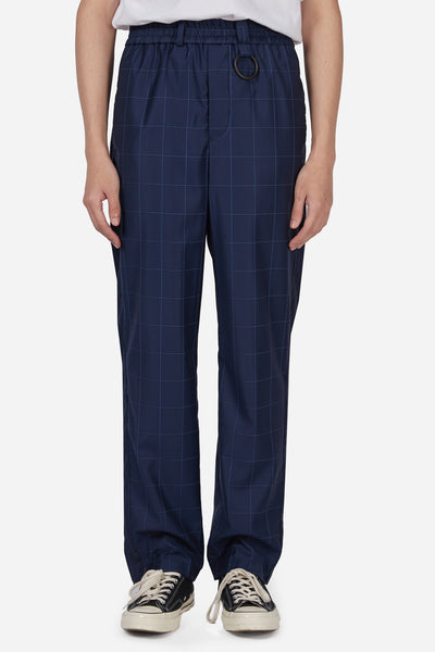 Pressured Paradise - Mich Track Trouser Navy Lake Window Grid