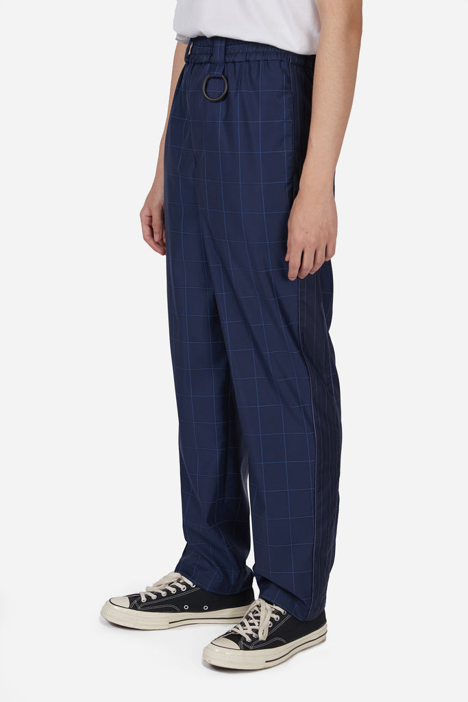 Mich Track Trouser Navy Lake Window Grid