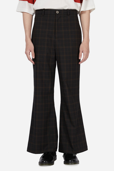 Pressured Paradise - Line Flare Trouser Dry Onyx Royal Line Plaid