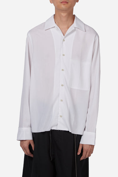 Song for the mute - Wander Boys Print Patch Pocket Shirt White