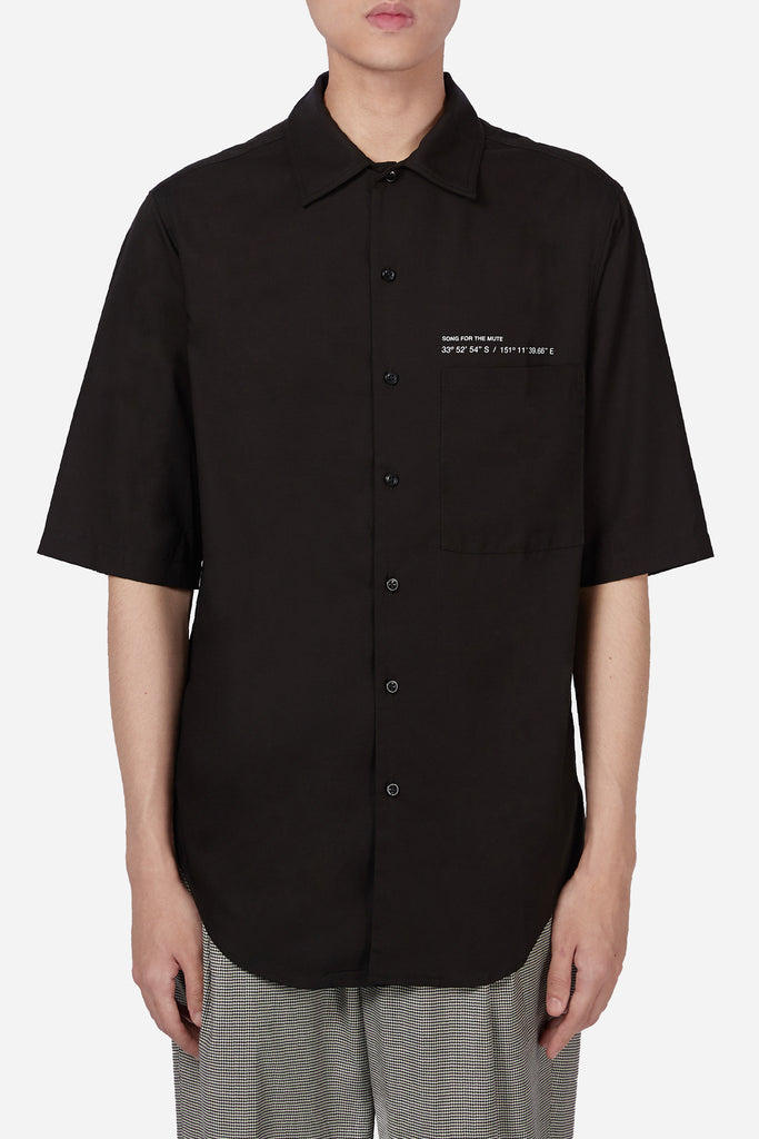 """Coordinates"" S/S Oversized Shirt Black"