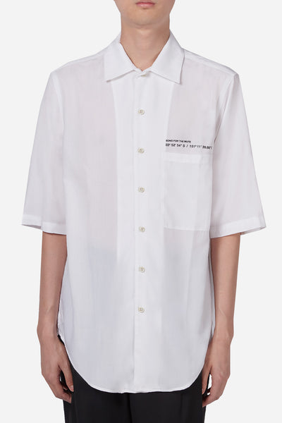 "Song for the mute - ""Coordinates"" S/S Oversized Shirt White"