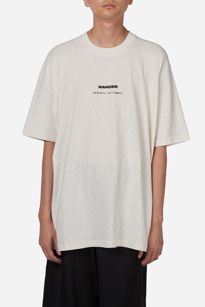 "Song for the mute - ""Wander"" Oversized Tee White"