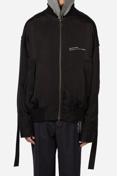 Song for the mute - Coordinates Coach Bomber Jacket Black
