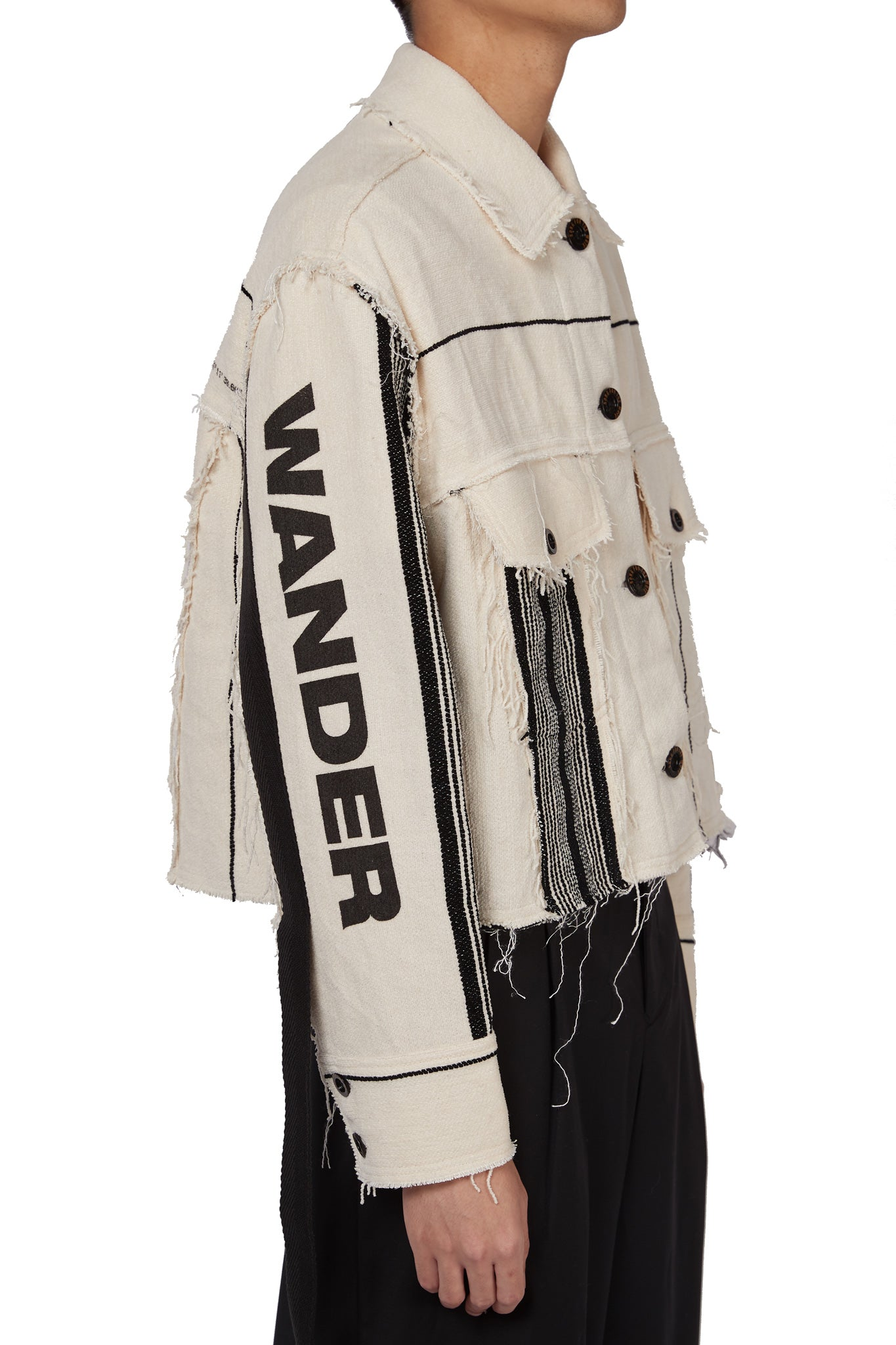 """Wander"" Cropped Worker Jacket Sand"
