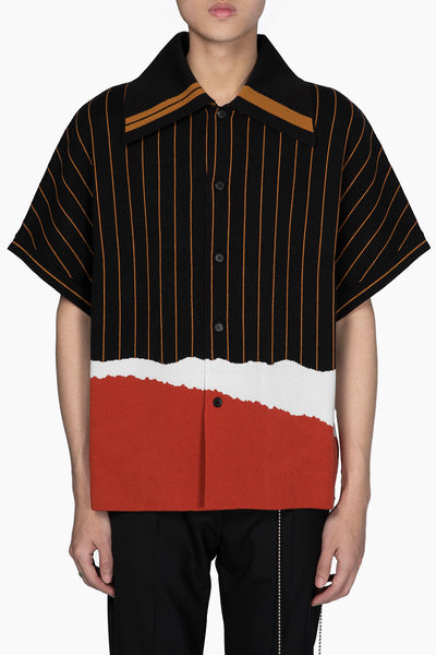 Pressured Paradise - Tsuno Cut Gragient Sweater Dry Onyx + Pepper Red