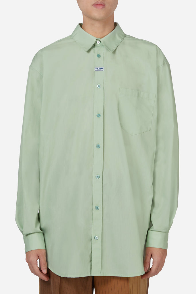 Oversized Long Sleeve Shirt Mint