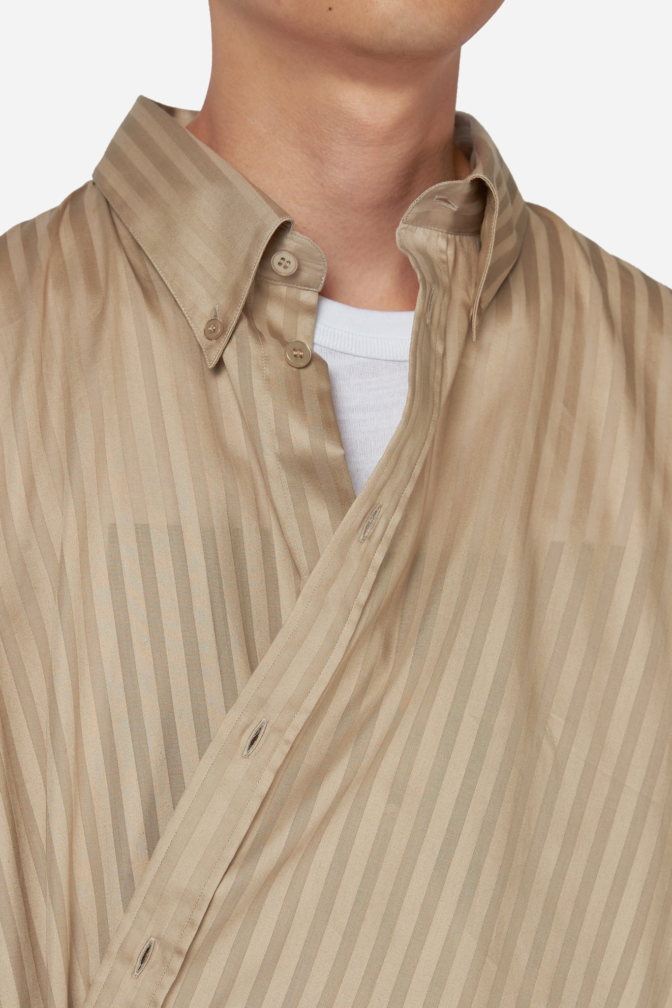 Wrap Shirt Silver Brown