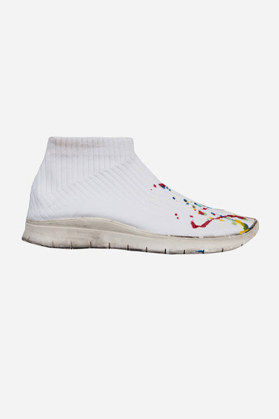 Maison Margiela - White Painter Treatment Knit Socks Sneakers