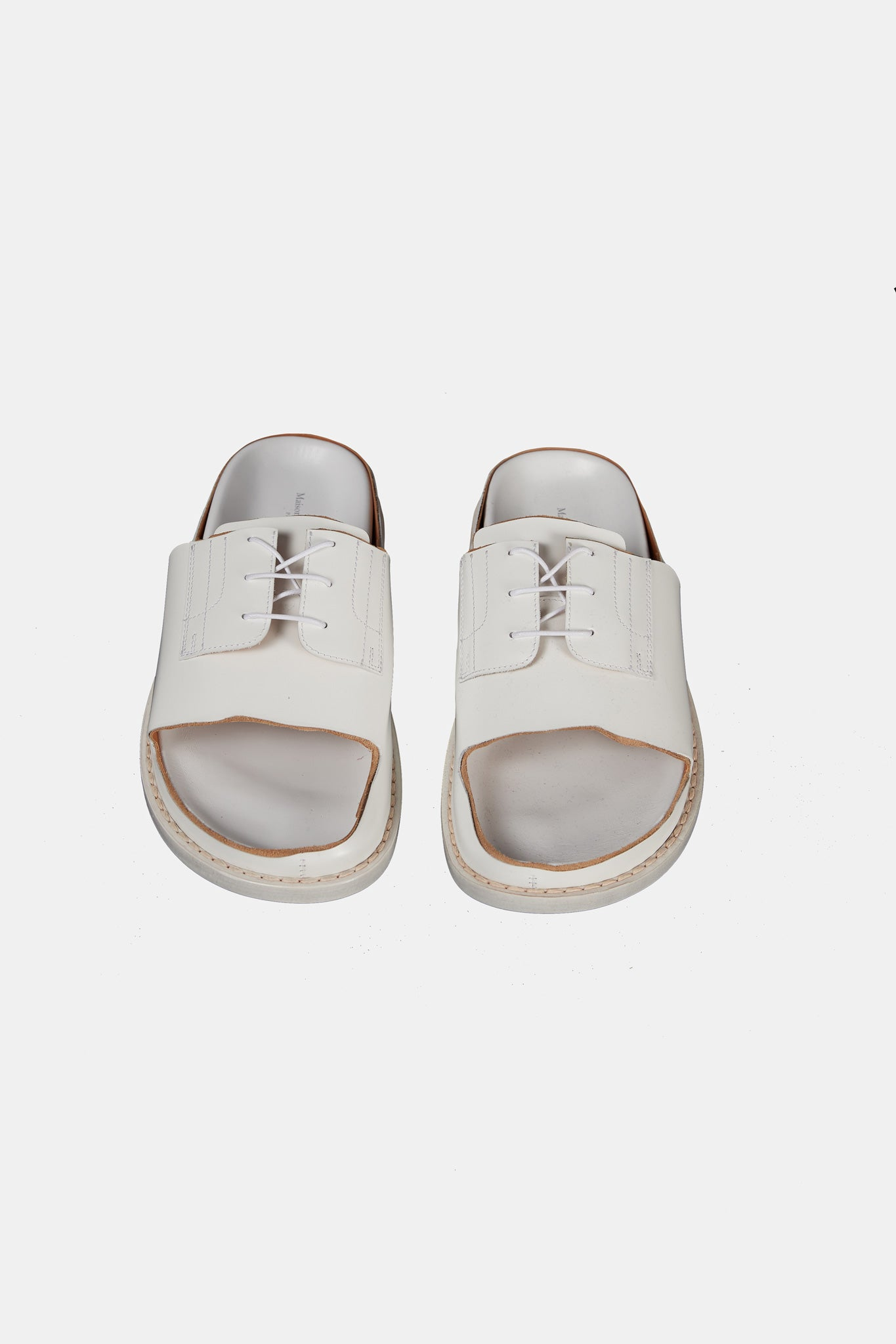 White Derby Slippers