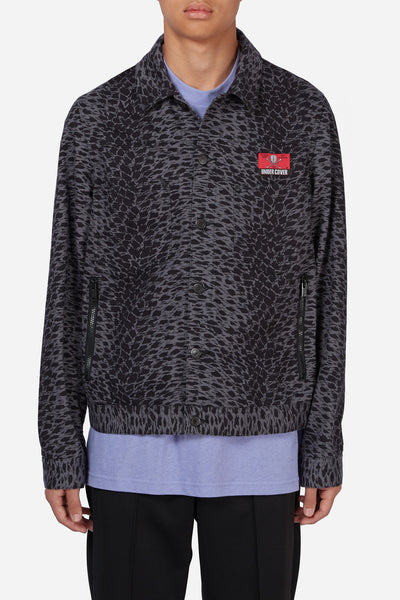 Undercover - Grey Leopard Print Denim Jacket